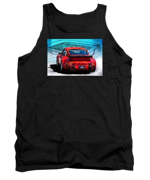 Red Porsche 930 Turbo Tank Top