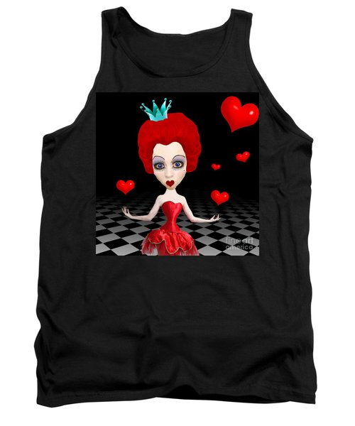 Red Queen Of Hearts Tank Top