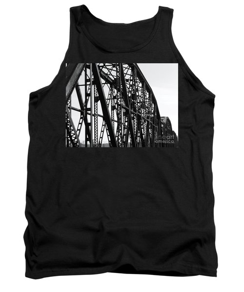 Tank Top featuring the photograph Red River Train Bridge #4 by Robert ONeil