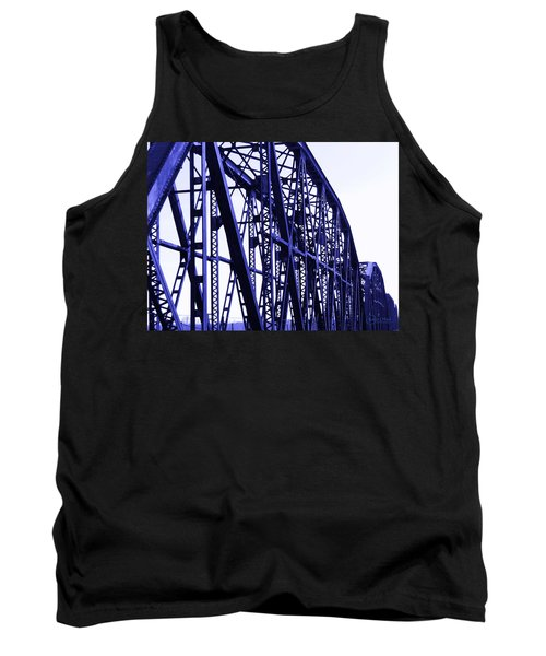 Tank Top featuring the photograph Red River Train Bridge #5 by Robert ONeil