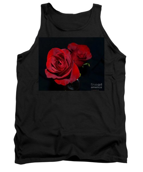 Red Roses For A Blue Lady Tank Top by Luther Fine Art