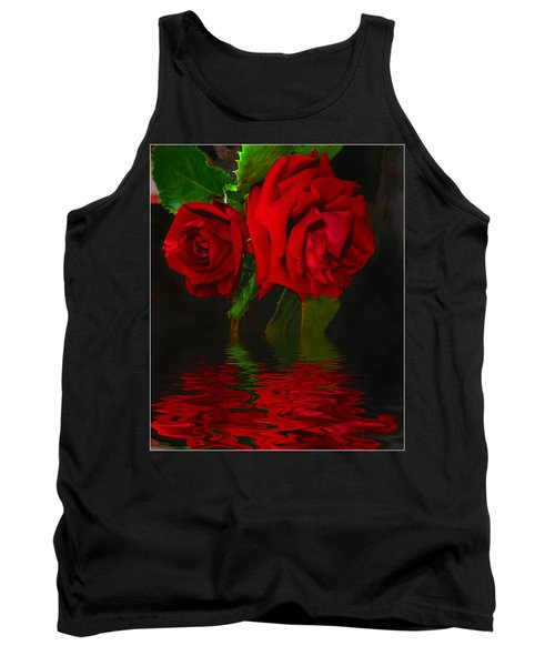 Red Roses Reflected Tank Top