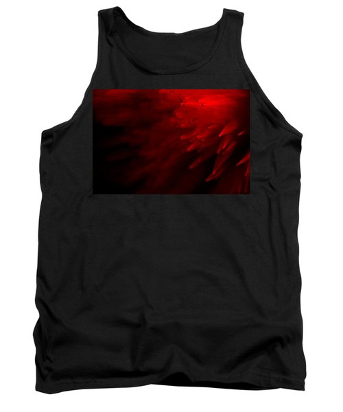 Tank Top featuring the photograph Red Skies by Dazzle Zazz