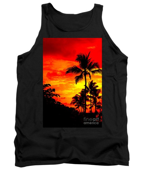 Tank Top featuring the photograph Red Sky At Night by David Lawson