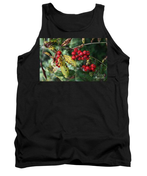 Red Summer Berries - Whistler Tank Top by Amanda Holmes Tzafrir