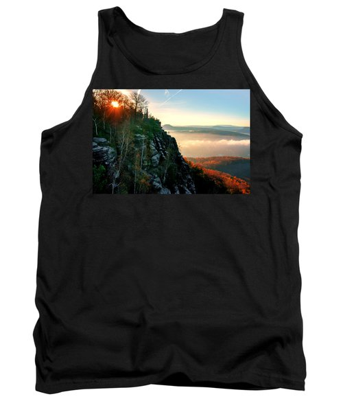Red Sun Rays On The Lilienstein Tank Top