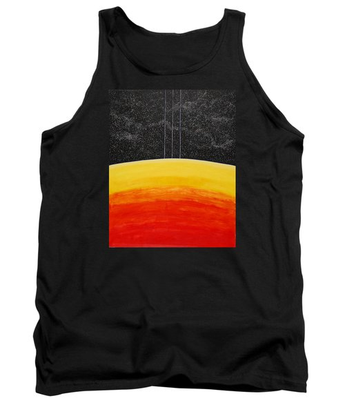 Red To Yellow Spacescape Tank Top