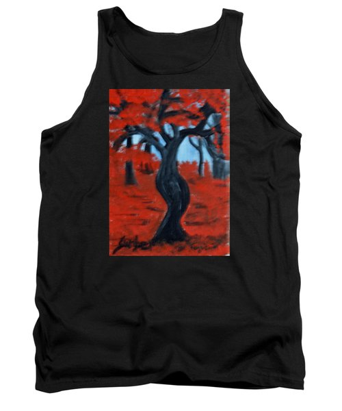 Red Trees Tank Top