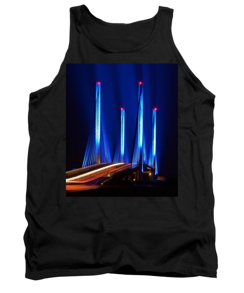Indian River Inlet Bridge As Seen North Of Bethany Beach In This Award Winning Perspective Photo Tank Top