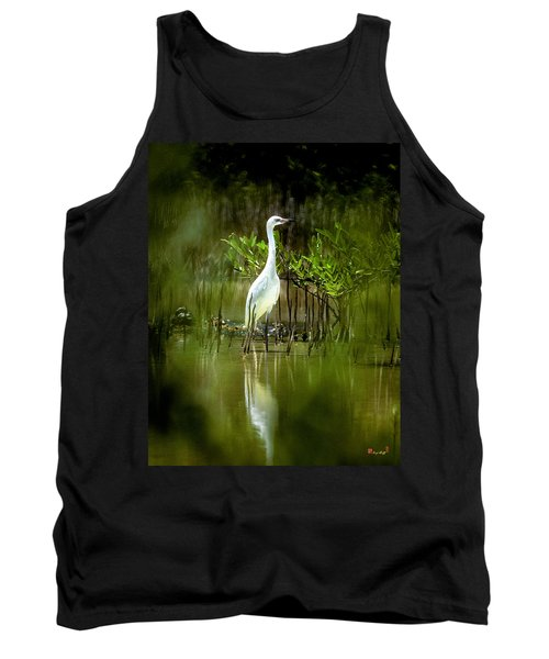 Tank Top featuring the photograph Reddish Egret 9c by Gerry Gantt