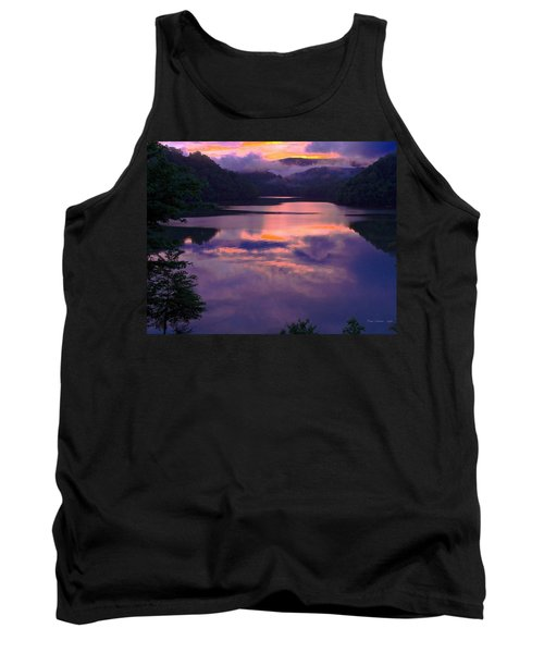 Reflected Sunset Tank Top by Tom Culver