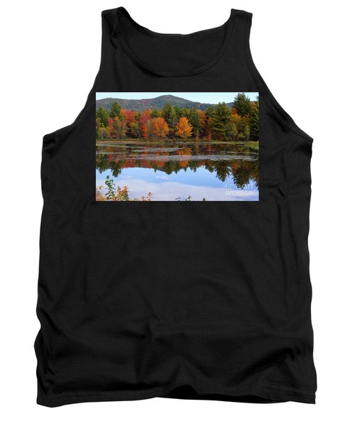 Reflections Of Fall Tank Top by Kerri Mortenson