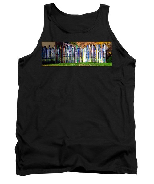 Tank Top featuring the photograph Retired Skis  by Jackie Carpenter