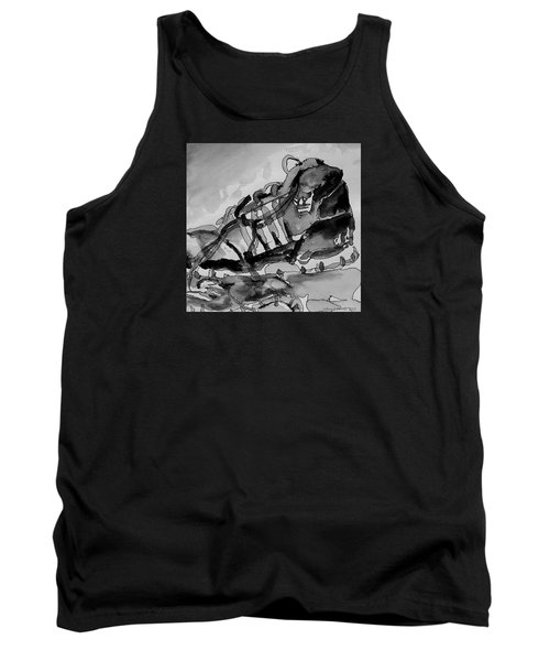 Tank Top featuring the painting Retro Adidas by Jeffrey S Perrine