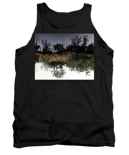 Reverse Reflection On A Crab Fishermans Canal Tank Top by Richard Rosenshein