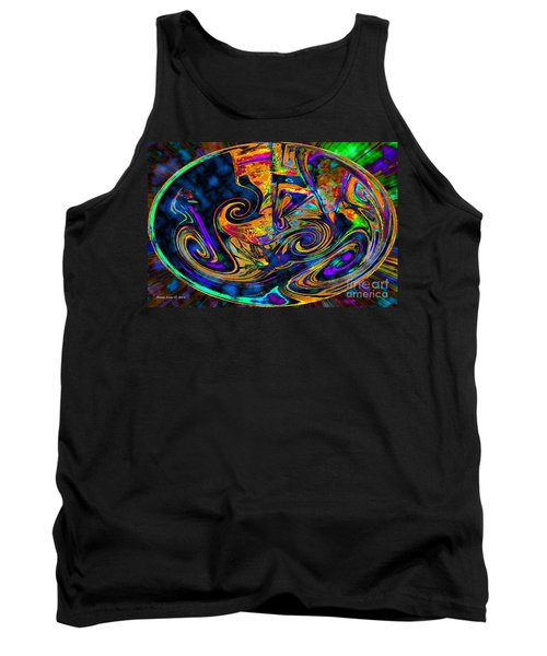 Tank Top featuring the digital art Rhythm Of The Soul by Annie Zeno