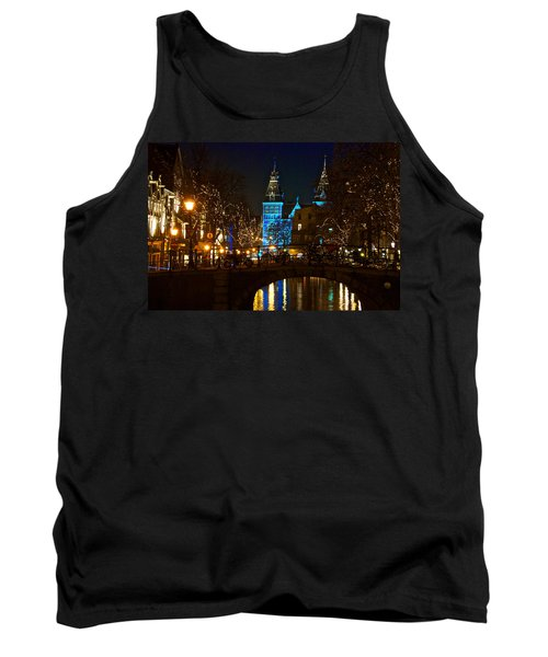 Tank Top featuring the photograph Rijksmuseum At Night by Jonah  Anderson