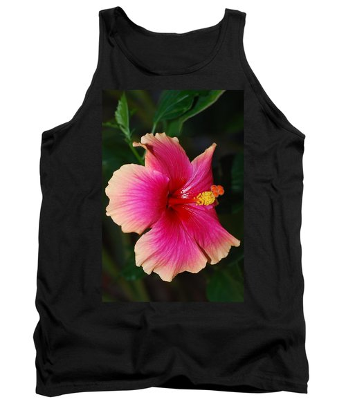 Rise And Shine - Hibiscus Face Tank Top by Connie Fox
