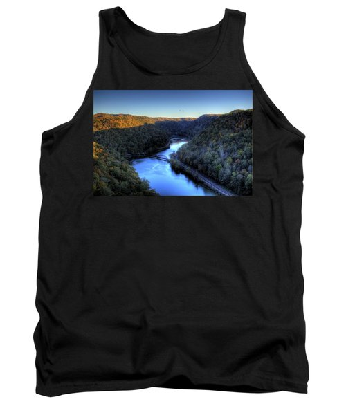 Tank Top featuring the photograph River Cut Through The Valley by Jonny D