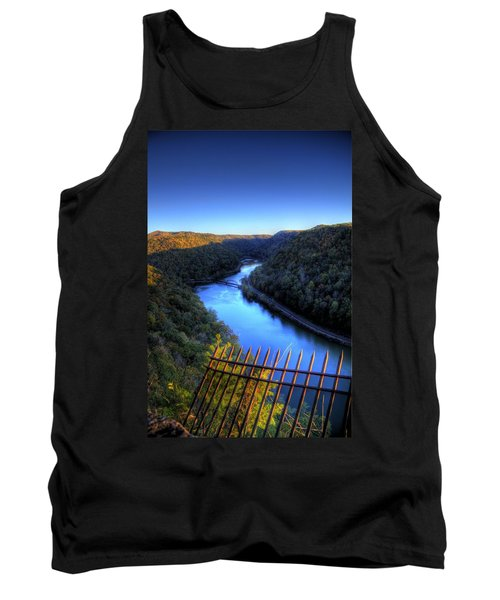 Tank Top featuring the photograph River Through A Valley by Jonny D
