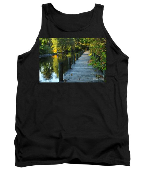 River Walk In Traverse City Michigan Tank Top