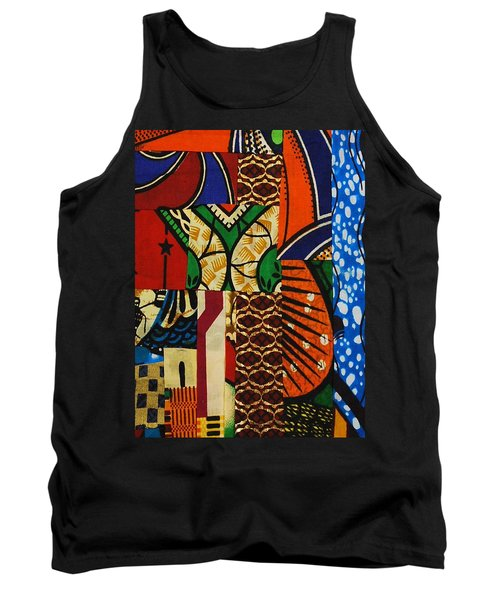 Tank Top featuring the tapestry - textile Riverbank by Apanaki Temitayo M