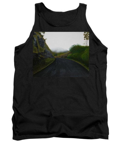 Tank Top featuring the painting Road Near Gresford Nsw by Tim Mullaney