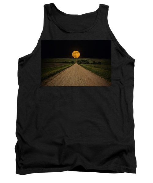 Road To Nowhere - Supermoon Tank Top by Aaron J Groen