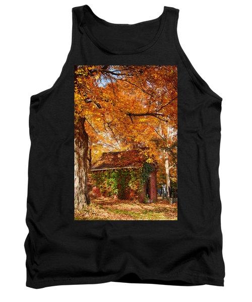 Tank Top featuring the photograph Rock Of Ages Surrouded By Color by Jeff Folger