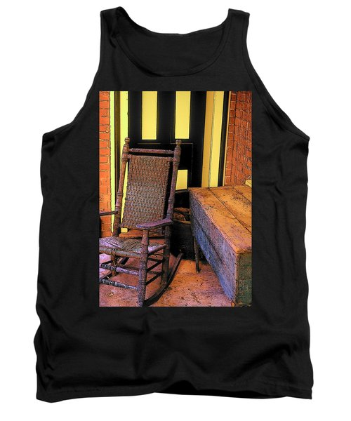 Rocking Chair And Woodbox Tank Top