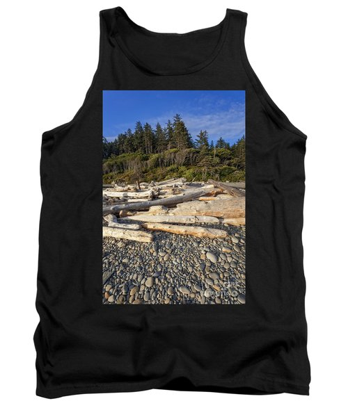 Rocky Beach And Driftwood Tank Top