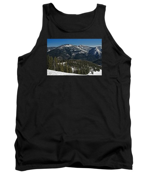 Rocky Mountain Top Tank Top by Andy Crawford