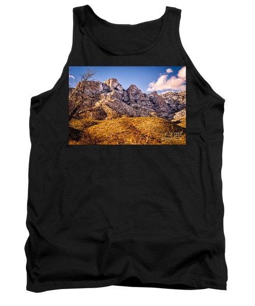 Tank Top featuring the photograph Rocky Peaks by Mark Myhaver