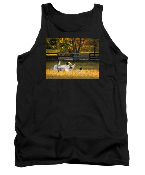 Tank Top featuring the photograph Roll In The Hay by Joan Davis