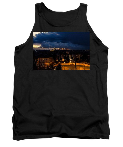 Rome Cityscape At Night  Tank Top