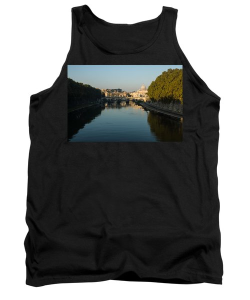 Tank Top featuring the photograph Rome Waking Up by Georgia Mizuleva