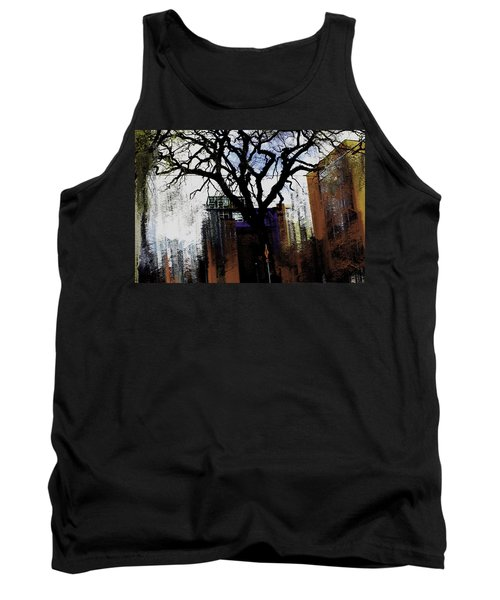 Tank Top featuring the mixed media Rooted In The Unstable by Terence Morrissey