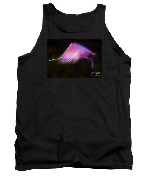Tank Top featuring the photograph Roseate Spoonbill     #6205 by J L Woody Wooden