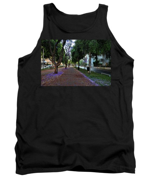 Tank Top featuring the photograph Rothschild Boulevard by Ron Shoshani