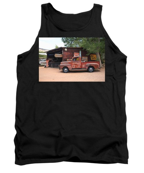 Route 66 Garage And Pickup Tank Top