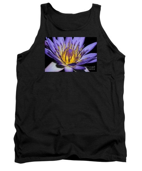 Royal Purple Water Lily #5 Tank Top by Judy Whitton
