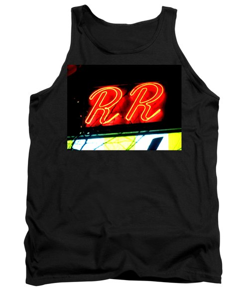 Tank Top featuring the painting RR by Luis Ludzska