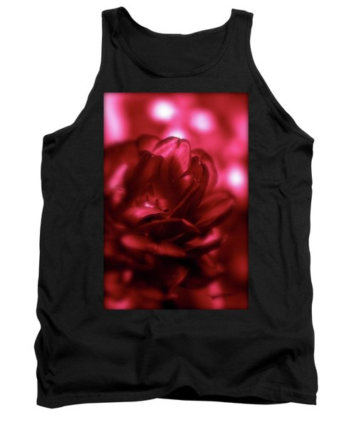 Ruby Red  Dahlia With Bokeh Tank Top