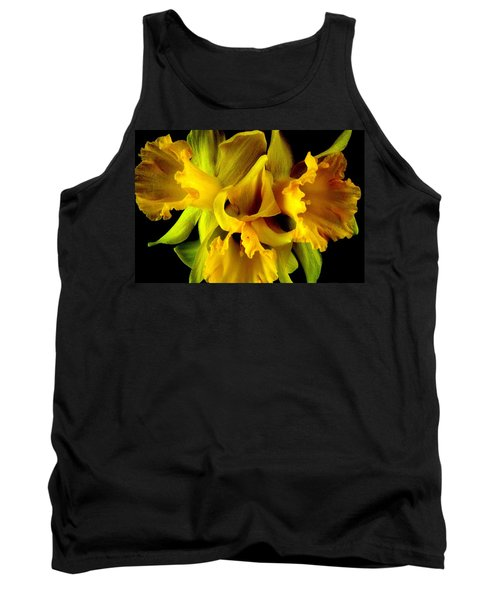 Tank Top featuring the photograph Ruffled Daffodils by Marianne Dow