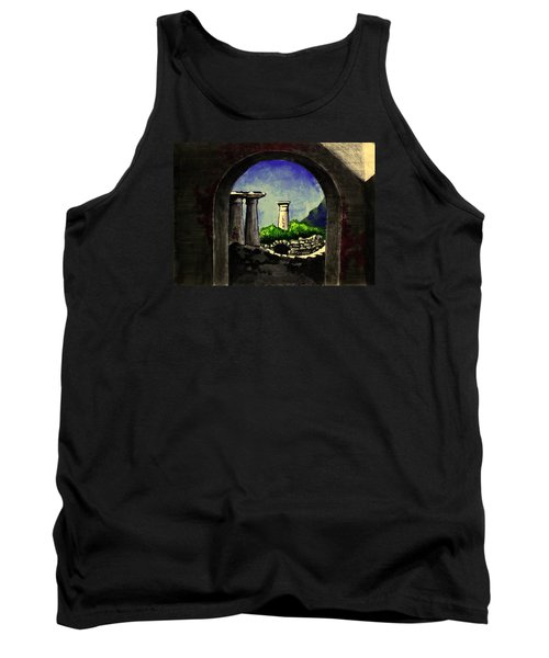 Tank Top featuring the painting Ruins by Salman Ravish