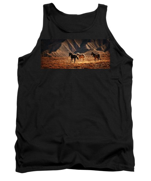 Tank Top featuring the photograph Running Free by Priscilla Burgers