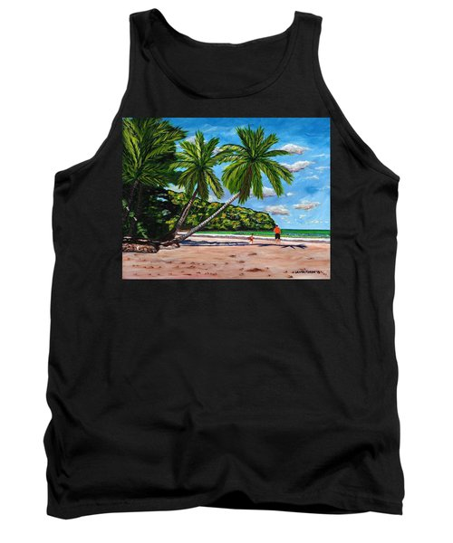 Tank Top featuring the painting Running by Laura Forde