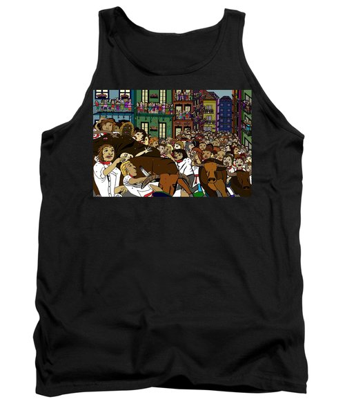 Running With The Bulls 1 Tank Top