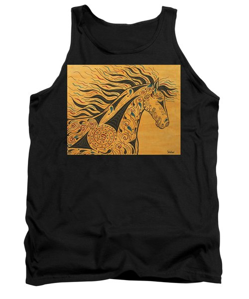 Tank Top featuring the painting Runs With The Wind by Susie WEBER