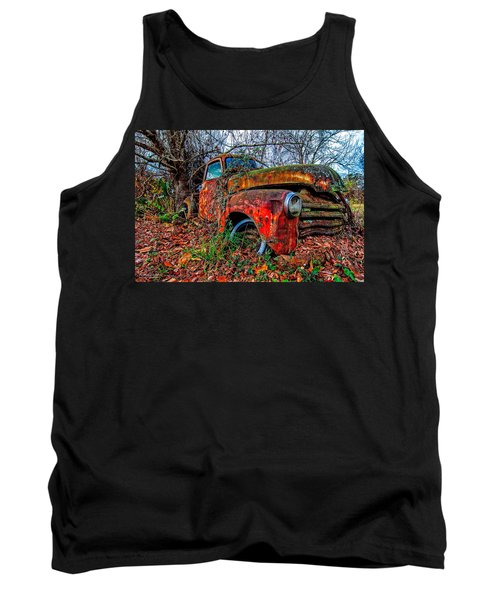 Tank Top featuring the photograph Rusty 1950 Chevrolet by Andy Crawford